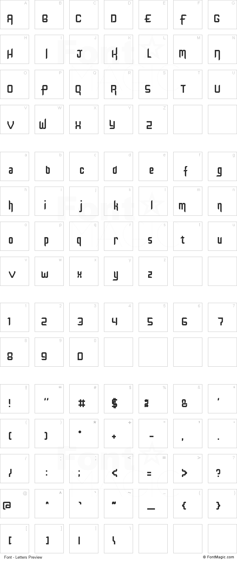 Kinglify Font - All Latters Preview Chart