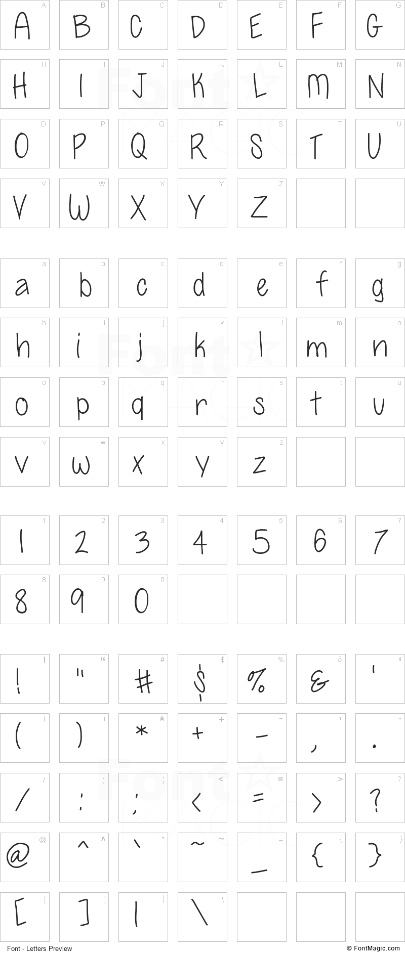 So Posh Font - All Latters Preview Chart