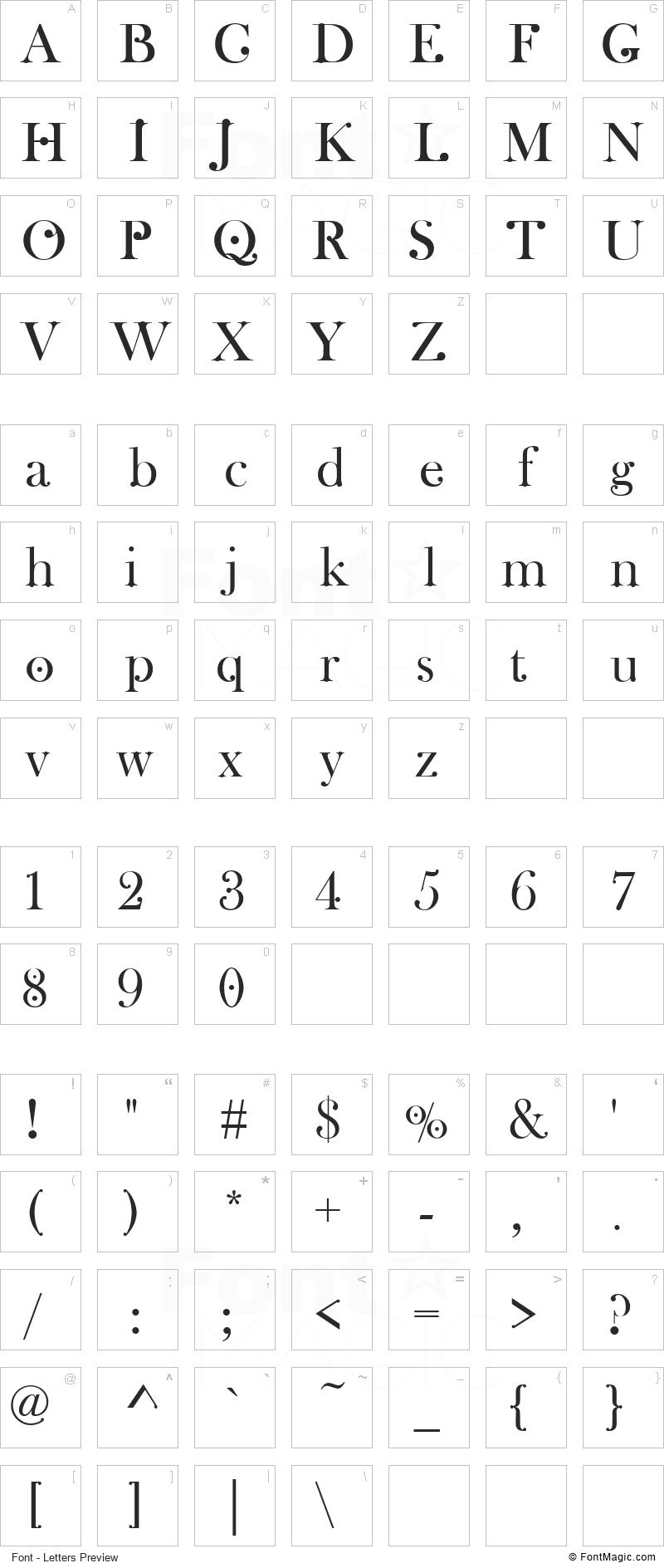 Wachinanga Font - All Latters Preview Chart