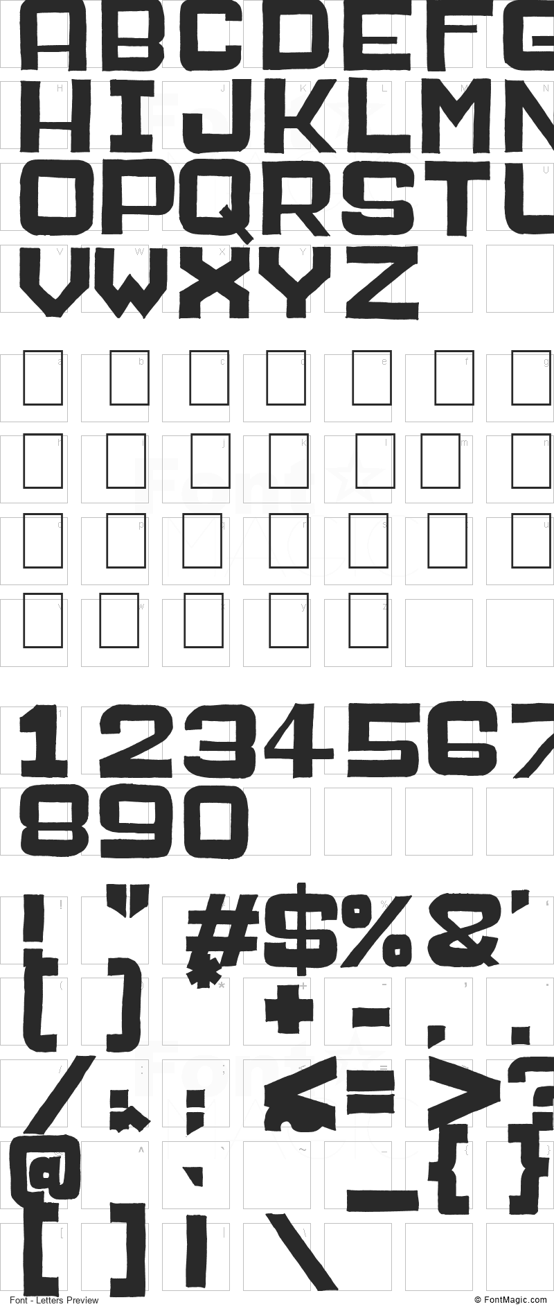 Public Market Font - All Latters Preview Chart