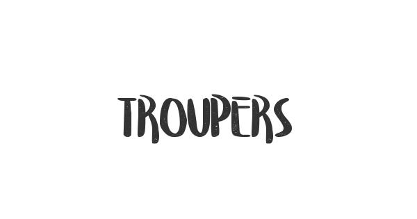 Troupers font thumb