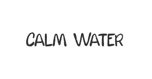 Calm Waters font thumb