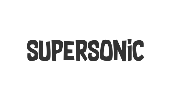 Supersonic Rocketship font thumb
