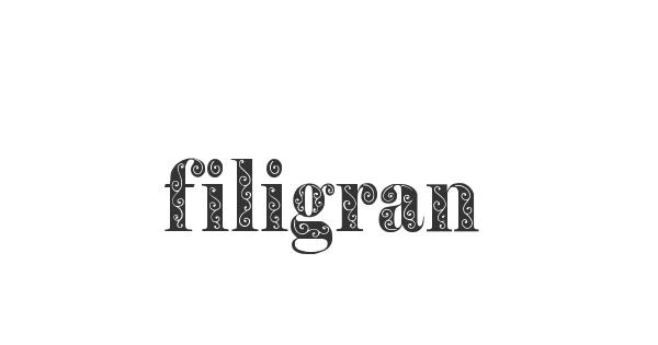 Filigran font thumb