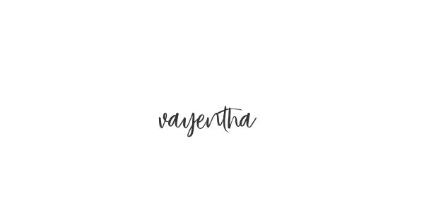 Vayentha font thumb
