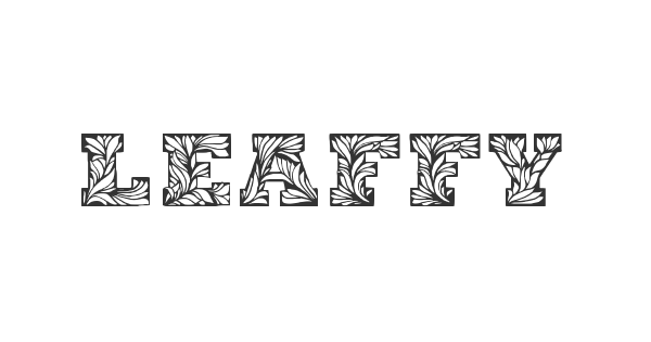 Leaffy font thumb
