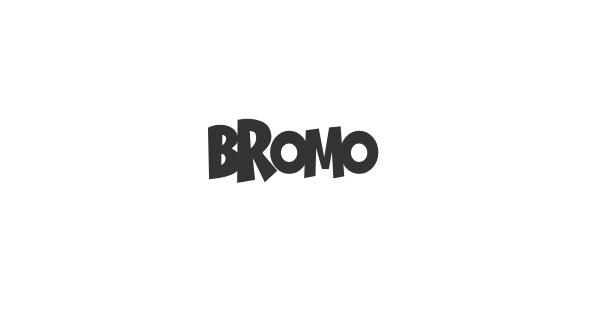 Bromo font thumbnail
