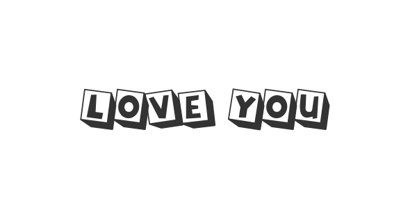 Love You font thumb
