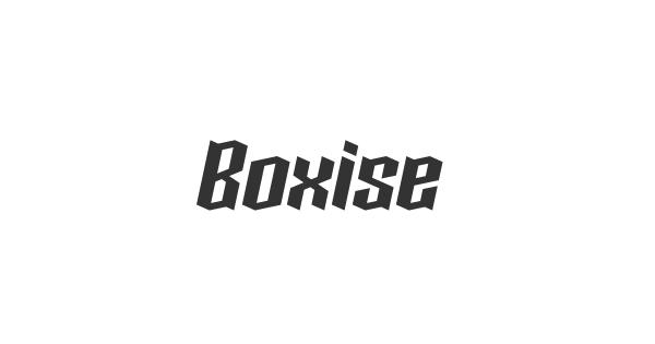 Boxise font thumb