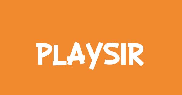 Playsir font thumb