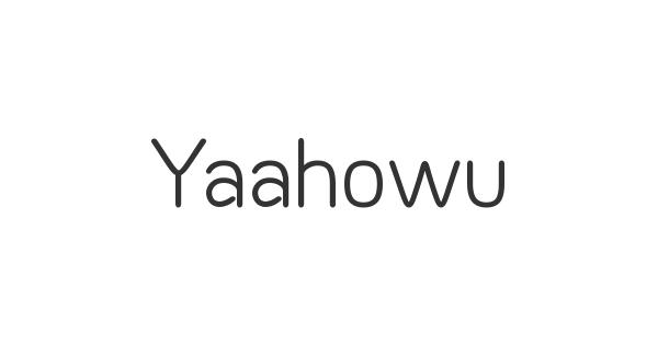 Yaahowu font thumbnail