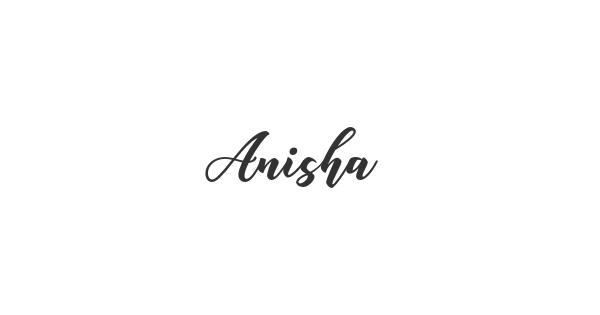 Anisha font thumb