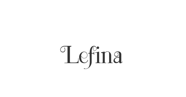 Lefina font thumb
