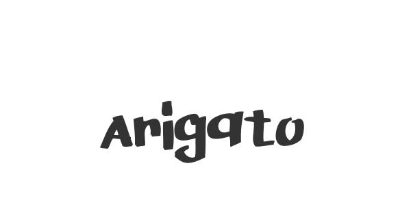 Arigato font thumb