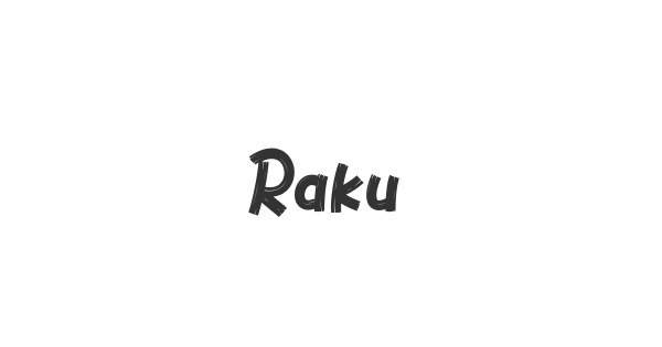 Raku font thumb
