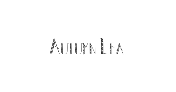 Autumn Leaves font thumb