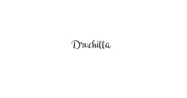 Druchilla font thumb