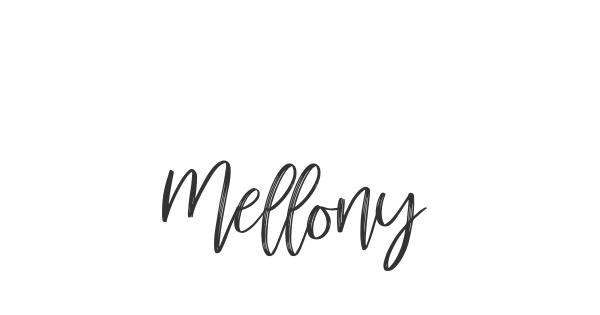 Mellony font thumbnail