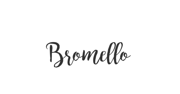 Bromello font thumbnail