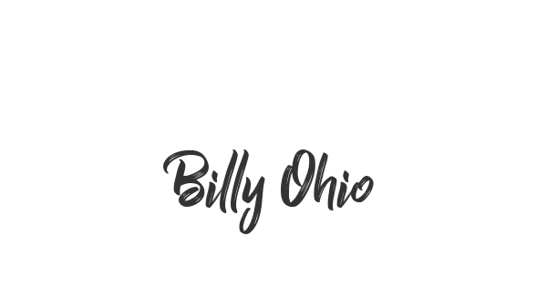 Billy Ohio font thumb