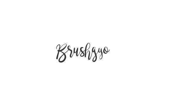 Brushgyo font thumbnail