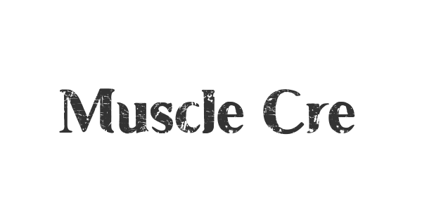 Muscle Cre font thumb