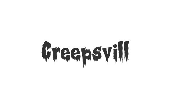 Creepsville font thumb