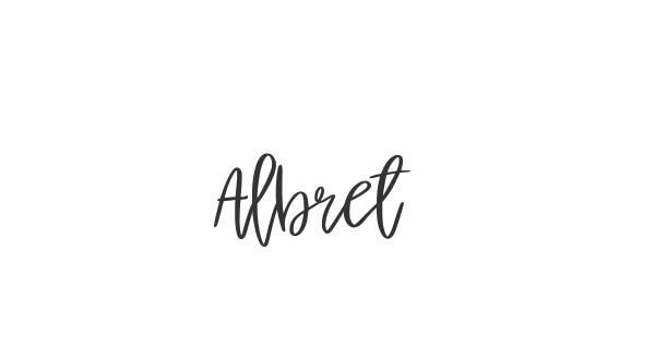 Albret font thumbnail
