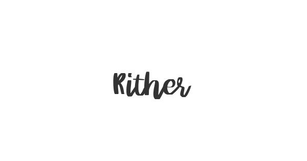 Rither font thumbnail