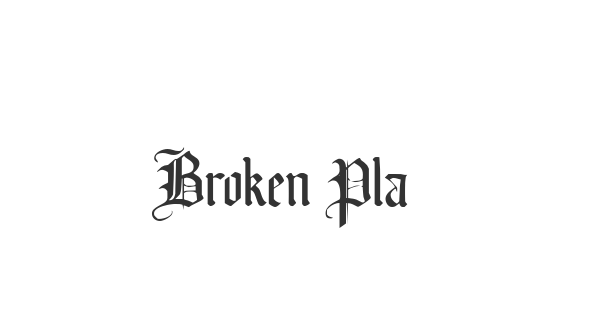 Broken Planewing font thumb