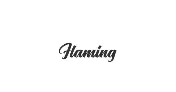 Flaming font thumb