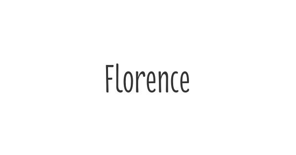 Florence font thumb