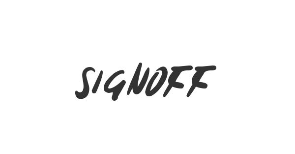 Signoff font thumb