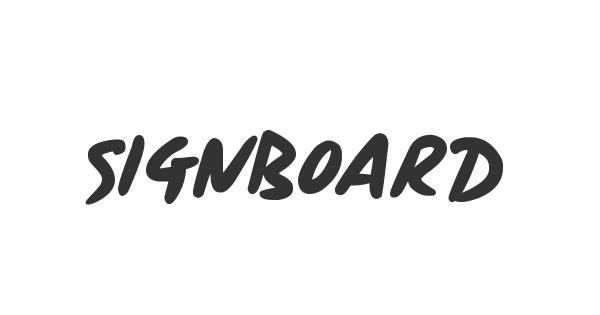 Signboard font thumb