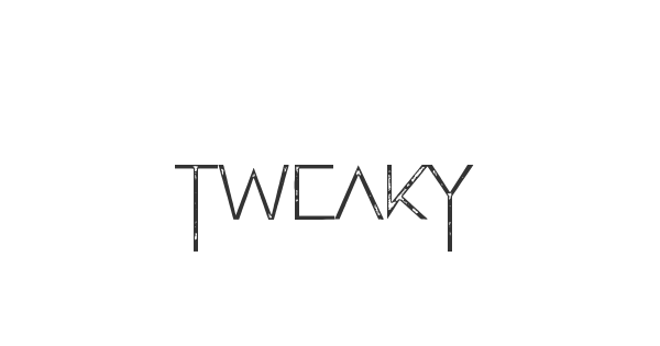 Tweaky font thumb