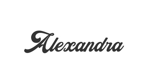Alexandra font thumb