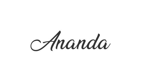 Ananda font thumb