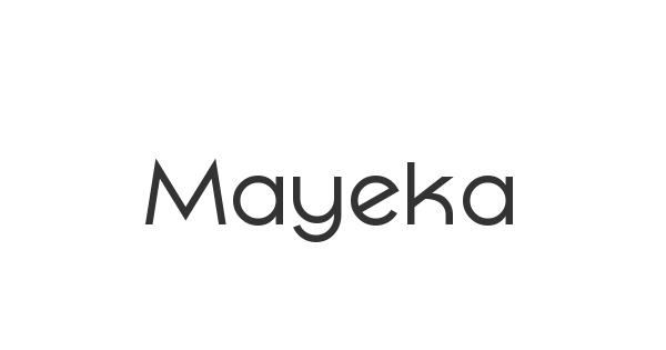 Mayeka font thumb