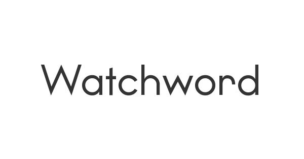 Watchword font thumb