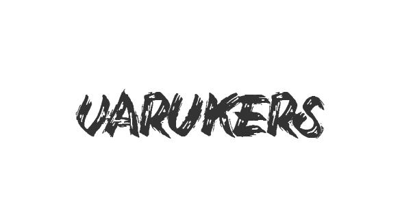 Varukers font thumb