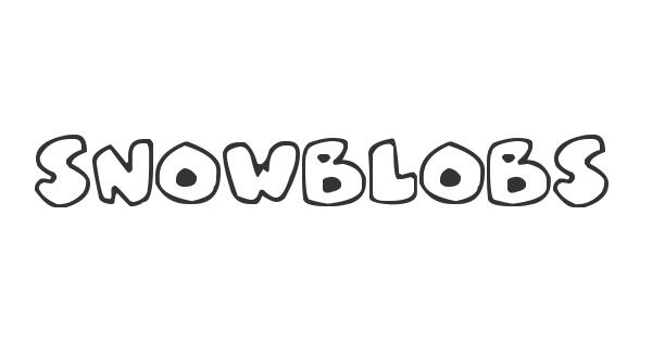 Snowblobs font thumb