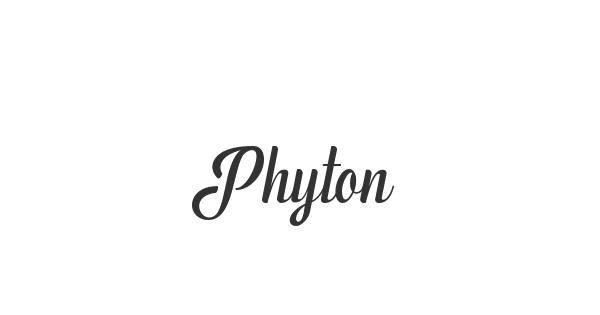 Phyton font thumb