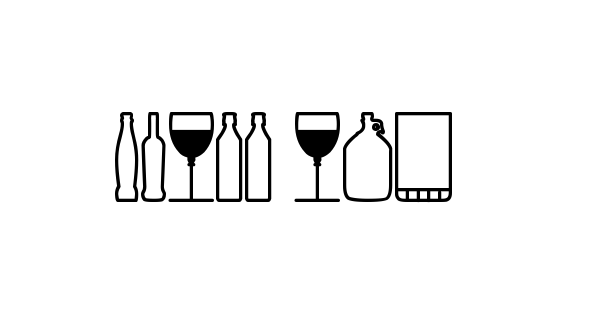 Glass and bottles St font thumbnail
