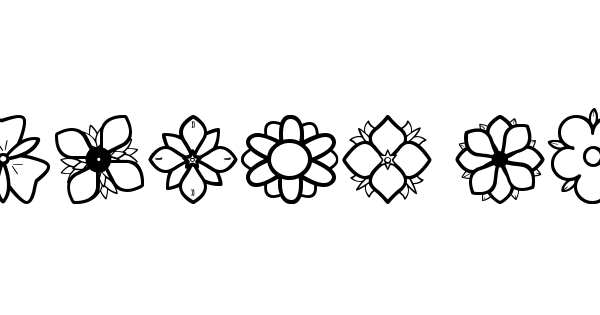 Second Flowers St font thumbnail