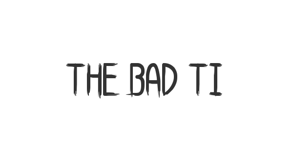 The Bad Times St font thumbnail