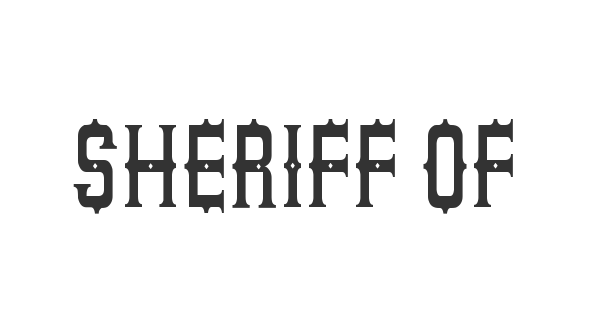 Sheriff of South St font thumb