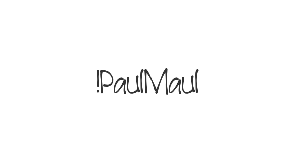!PaulMaul font thumb