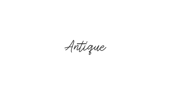Antique font thumb