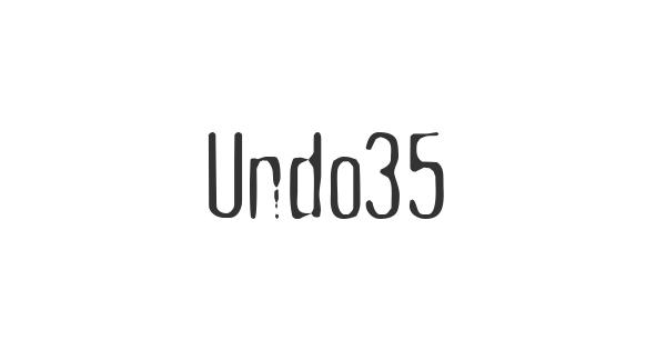 Undo35 font thumb