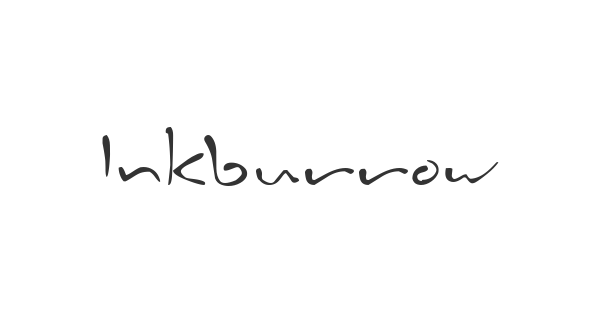 Inkburrow font thumb